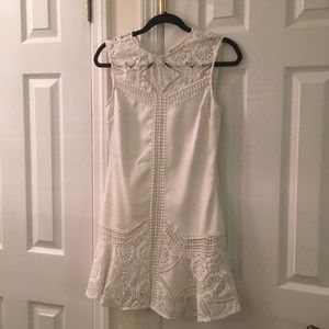 White dress with crochet detail